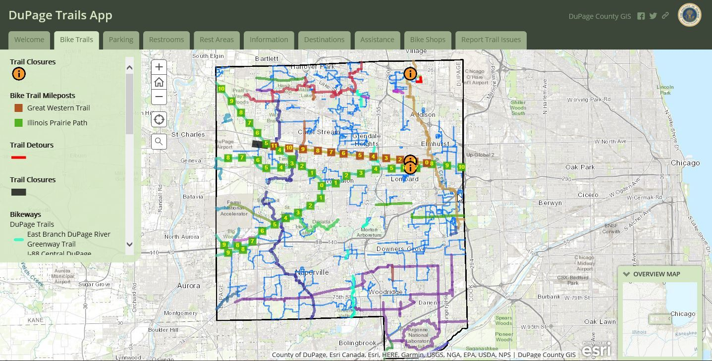 DuPage County Trails Map