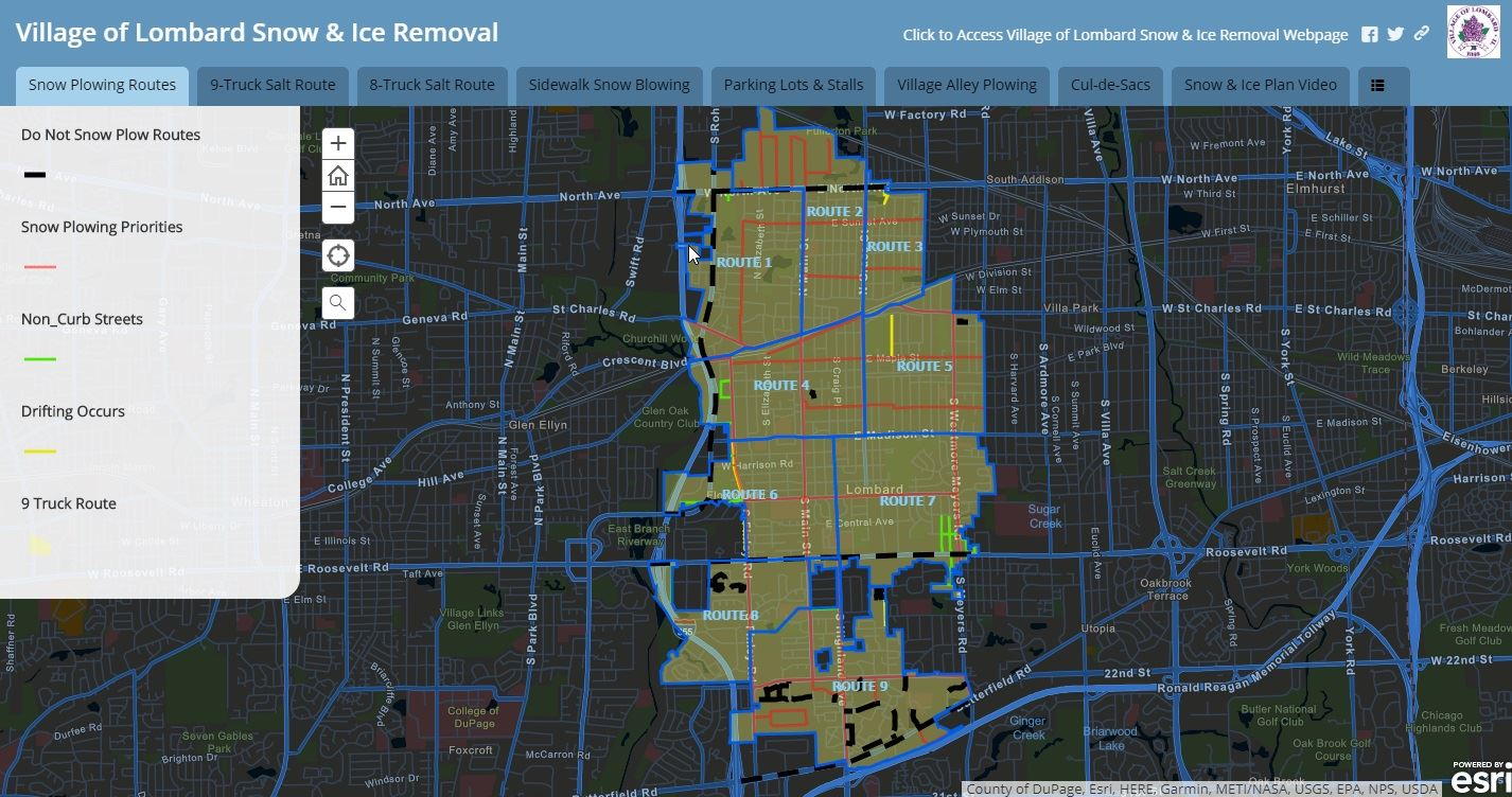 Snow and Ice Removal Map Opens in new window